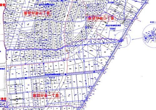 宮城県仙台市宮城野区区画整理住所変更地図