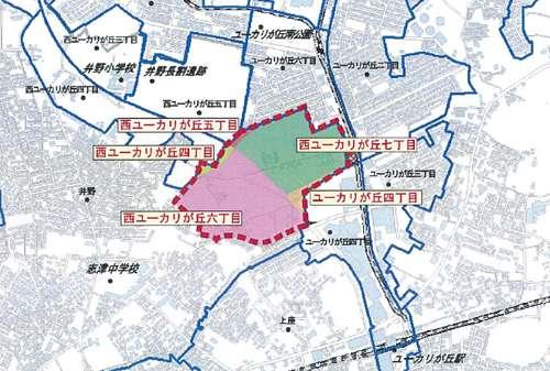 千葉県佐倉市区画整理事業住所変更区域図