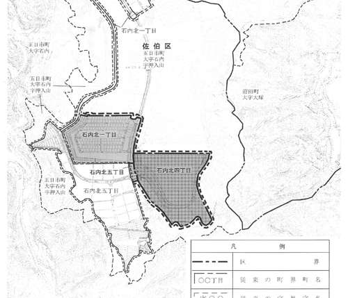 広島県広島市佐伯区住居表示住所変更の区域図