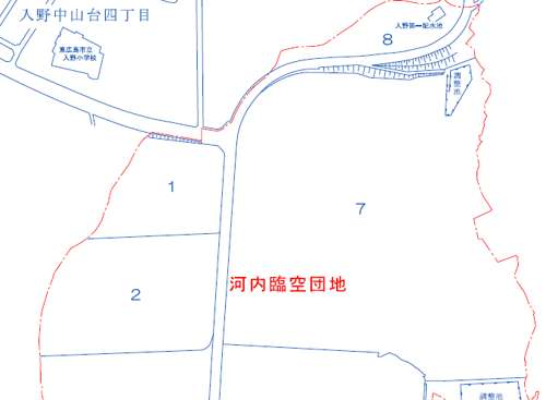 広島県東広島市住居表示住所変更の区域図