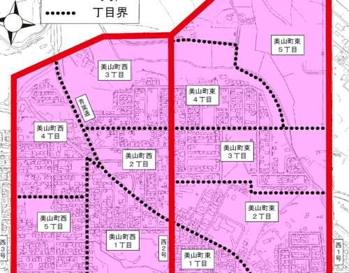 北海道北見市字名変更住所変更の区域図