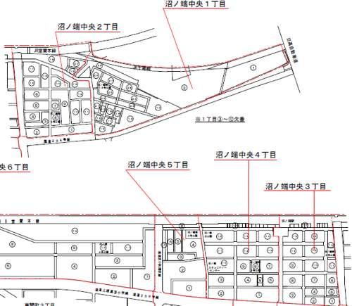 北海道苫小牧市住居表示住所変更の区域図