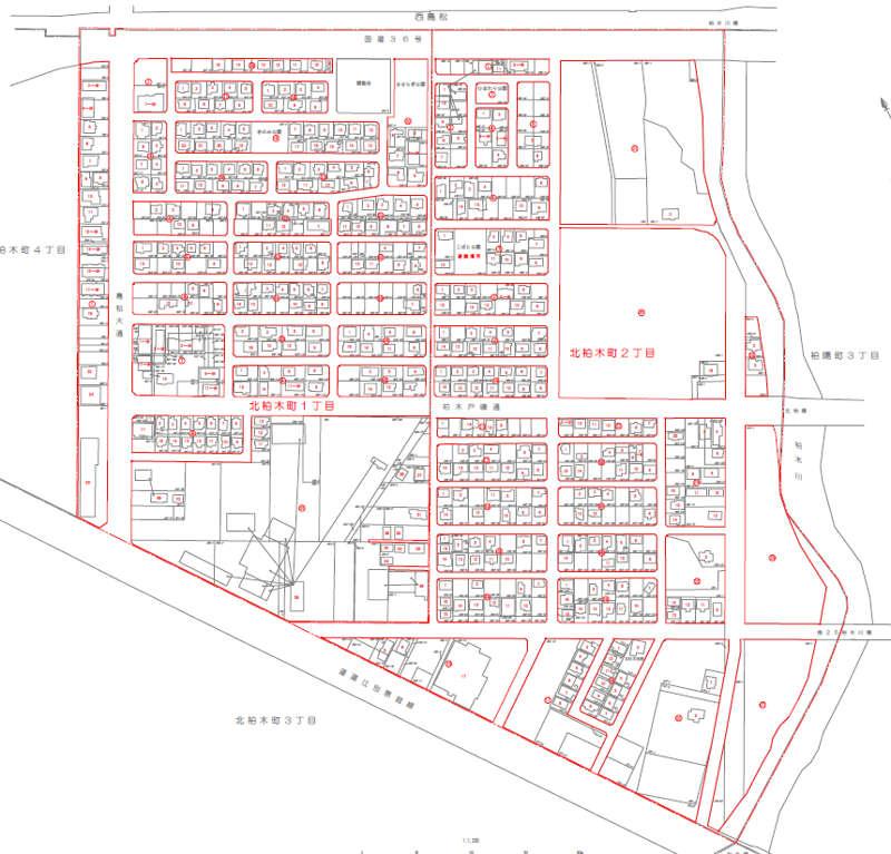 北海道恵庭市の住居表示区域図 2012年9月実施