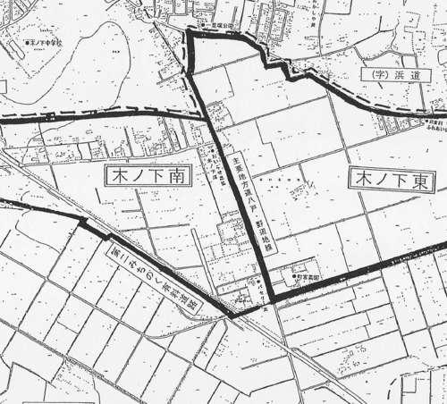 青森県上北郡おいらせ町住所変更の区域図2