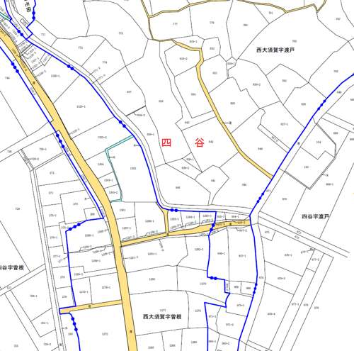 千葉県成田市行政区画変更住所変更の変更図2
