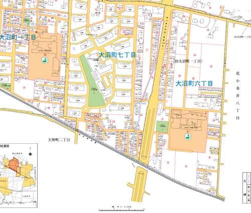 東京都小平市住居表示住所変更の区域図2
