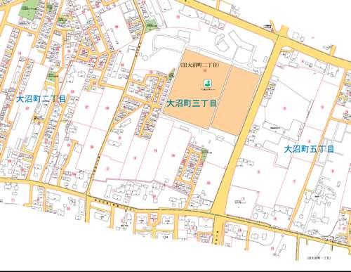 東京都小平市住居表示住所変更の区域図3