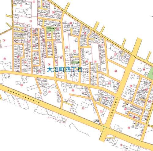 東京都小平市住居表示住所変更の区域図4