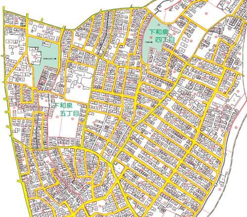 神奈川県横浜市泉区住居表示住所変更の区域図2