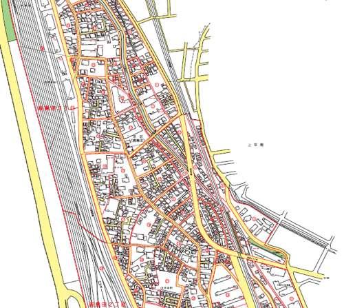 神奈川県川崎市幸区住居表示住所変更の区域図