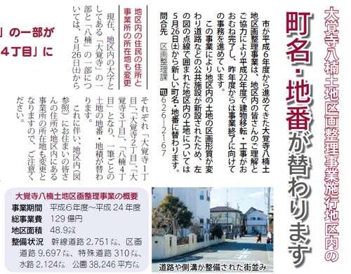 静岡県焼津市区画整理事業住所変更の案内