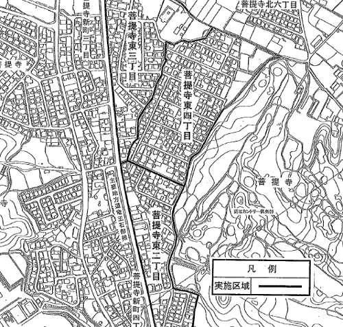 滋賀県湖南市住居表示住所変更の区域図