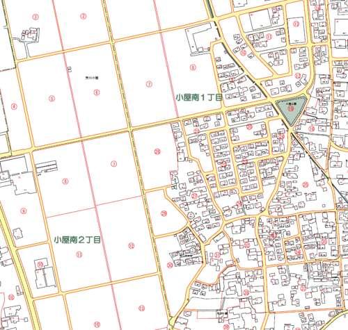 長野県松本市住居表示住所変更の区域図