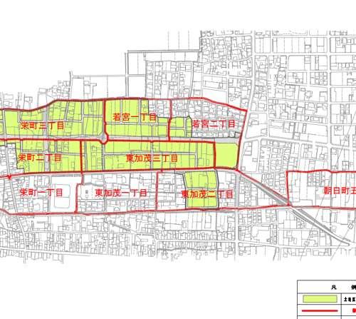 岐阜県本巣郡北方町区画整理事業住所変更の区域図1