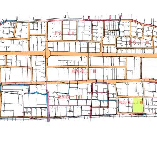 岐阜県本巣郡北方町区画整理事業住所変更の区域図2