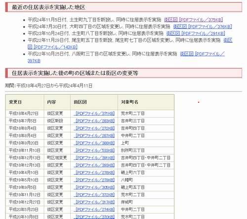 大阪府岸和田市住居表示住所変更の案内