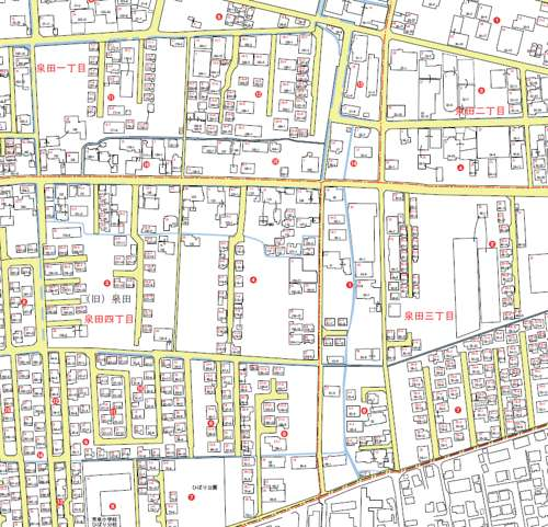 岡山県岡山市南区住居表示住所変更の区域図2