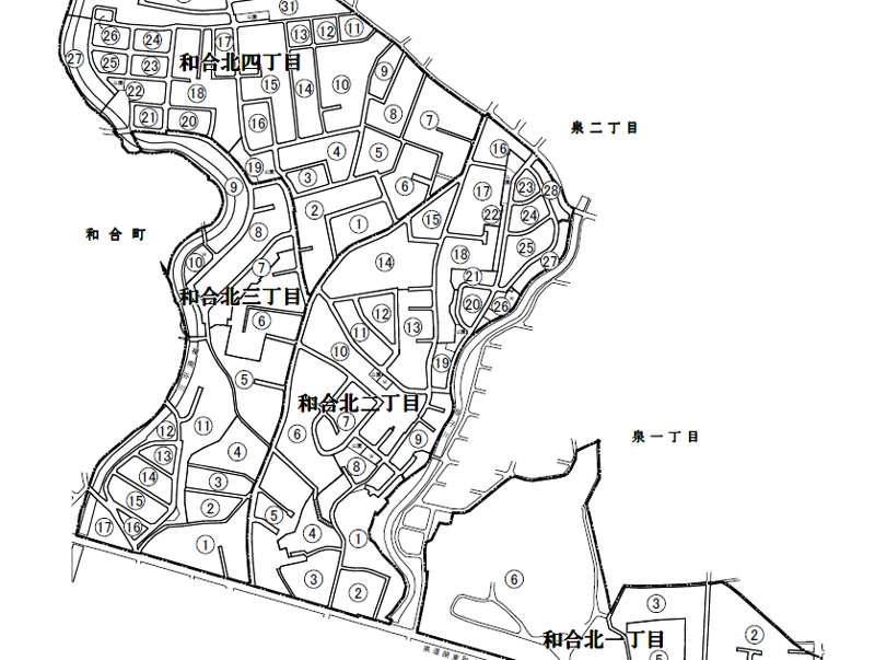 静岡県浜松市中区住居表示住所変更の区域図