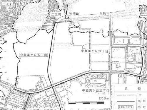 奈良県奈良市住居表示住所変更の区域図2