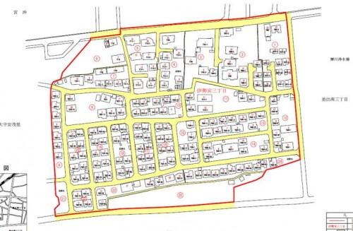 長野県長野市住居表示住所変更の区域図201302