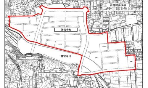 静岡県浜松市北区住居表示住所変更の区域図2