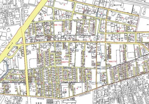 岡山県岡山市南区住居表示住所変更の区域図2201302