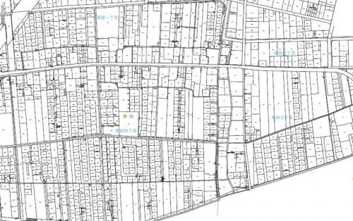 岡山県岡山市南区住居表示住所変更の区域図1201302