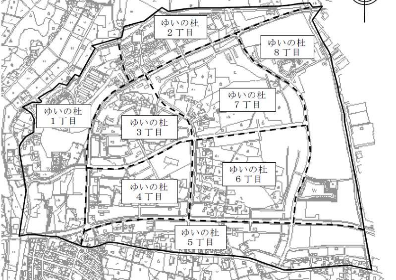 2013年03月栃木県宇都宮市住居表示住所変更の区域図1