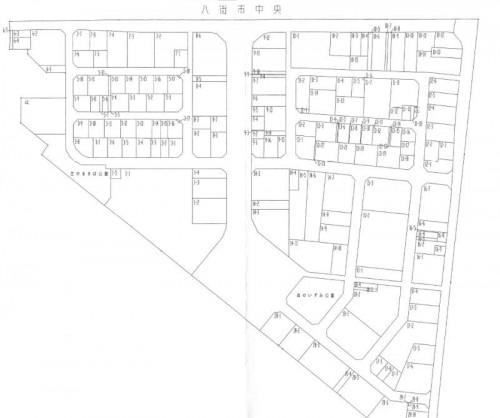 201303千葉県八街市区画整理住所変更の区域図