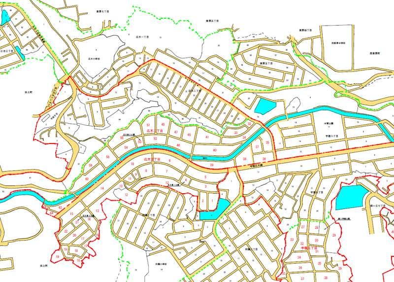2013年2月鹿児島県鹿児島市住居表示住所変更の区域図1