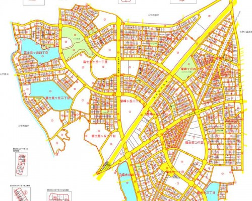 茨城県つくばみらい市区画整理住所変更の区域図2
