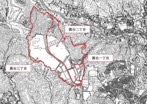 埼玉県飯能市区画整理事業住所変更の区域図1