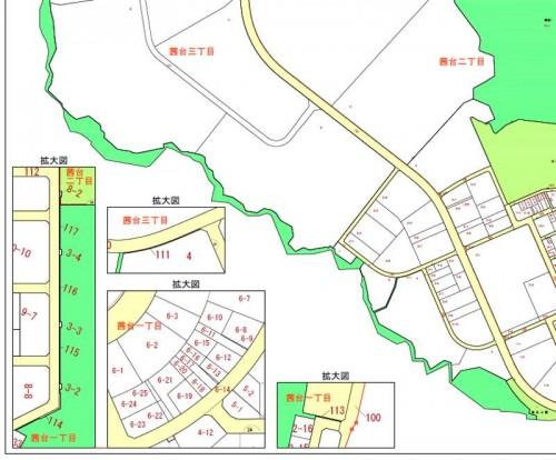 埼玉県飯能市区画整理事業住所変更の区域図2