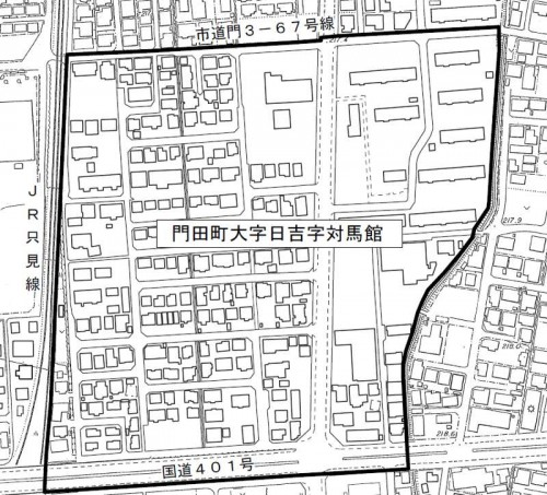 201308福島県会津若松市住居表示住所変更の区域図1