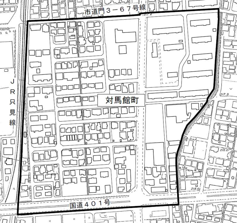201308福島県会津若松市住居表示住所変更の区域図2