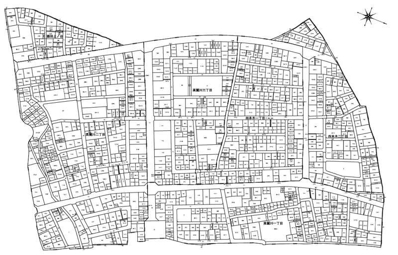 201308埼玉県日高市区画整理住所変更の区域図1