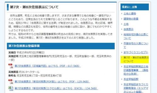 201308埼玉県本庄市住居表示住所変更の案内