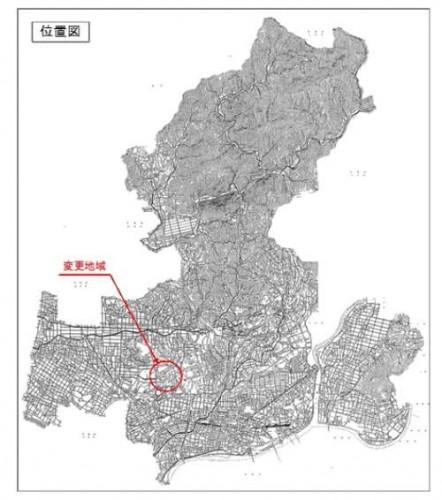 岐阜県美濃加茂市住所変更区画整理 位置図