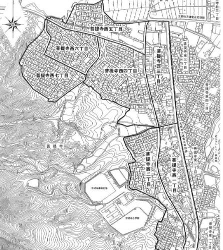 滋賀県湖南市2013年11月5日住居表示住所変更区域図他2