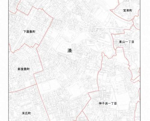 和歌山県田辺市2013年11月5日住居表示住所変更区域図他3