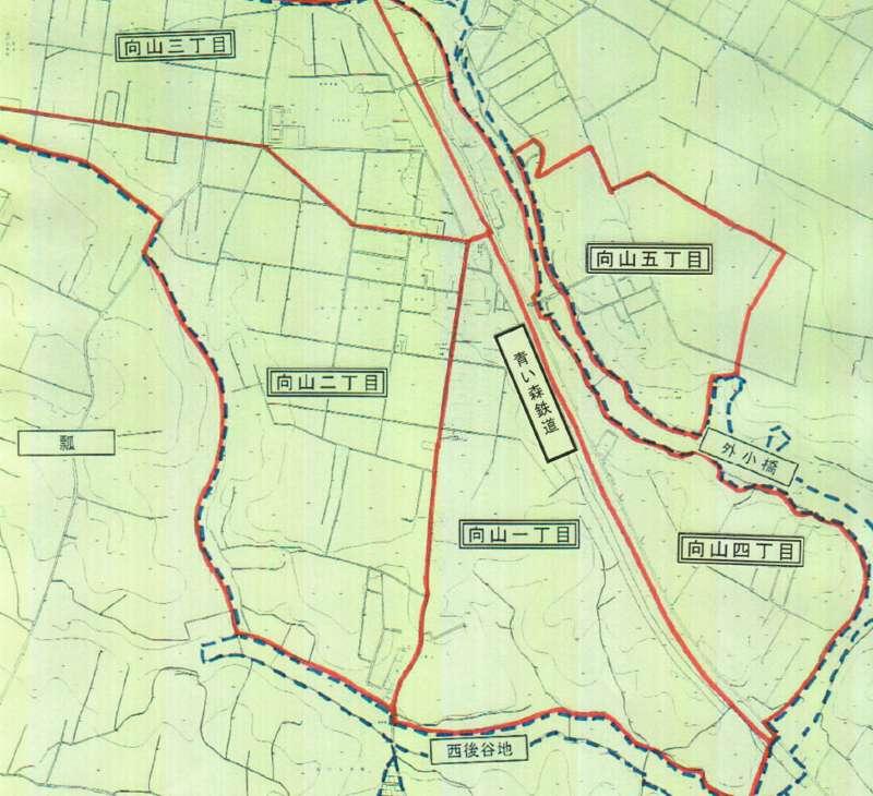 上北郡おいらせ町2013年11月18日字の区域及び名称変更住所変更区域図他1
