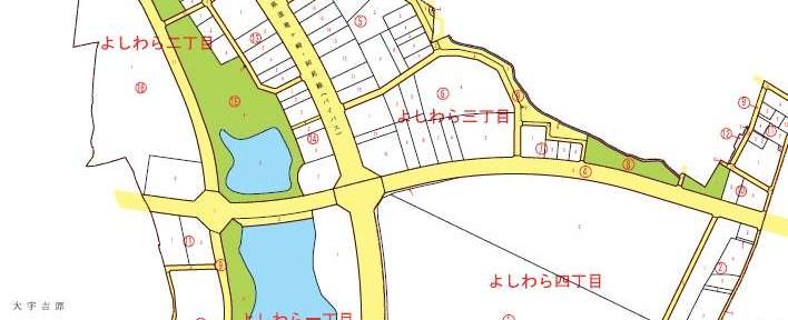 茨城県稲敷郡阿見町2014年2月8日町名地番変更住所変更区域図他2
