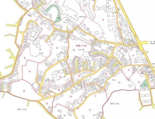 神奈川県川崎市高津区2013年11月18日住居表示住所変更区域図他1