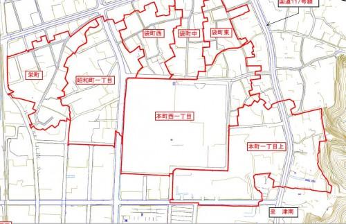 新潟県十日町市2013年11月18日地籍調査による地番整理住所変更区域図他1