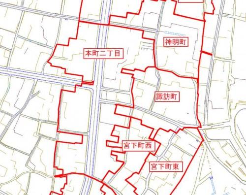 新潟県十日町市2013年11月18日地籍調査による地番整理住所変更区域図他2