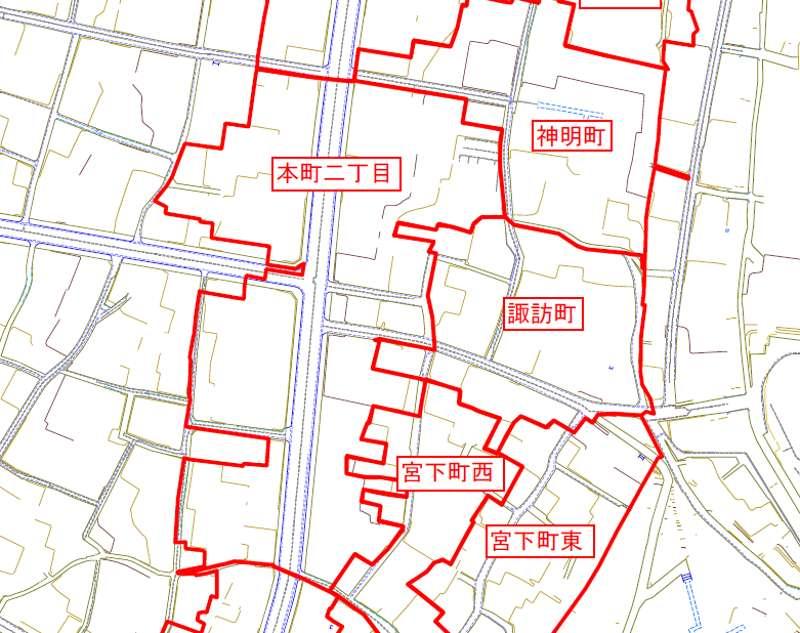 新潟県新潟県十日町市2013年11月18日地籍調査による地番整理住所変更区域図他2