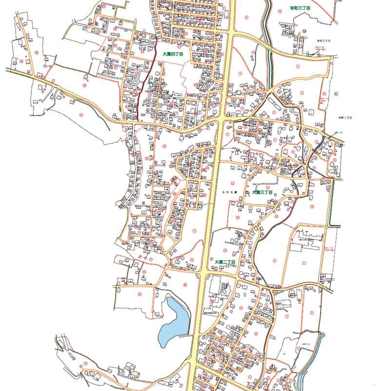 新潟県上越市2013年12月1日住居表示住所変更区域図他3