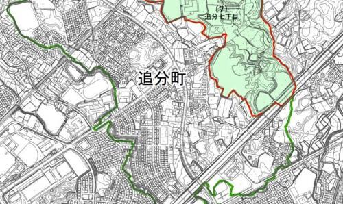 滋賀県草津市2013年11月25日住居表示住所変更区域図他1