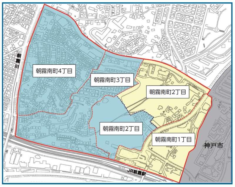 兵庫県明石市2014年2月15日住居表示住所変更区域図他1