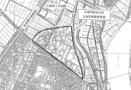 宮城県石巻市2014年2月22日区画整理事業住所変更区域図他2